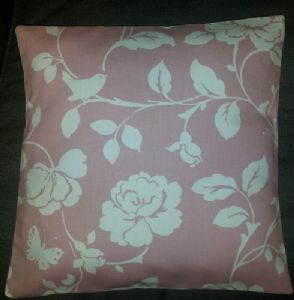"Cushion Cover in Clarke and Clarke Meadow in Pink Roses Birds 14"" 16"" 18"" 20"""